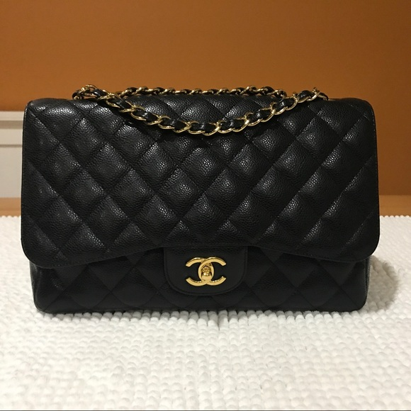 fcd9c4e62c5083 CHANEL Bags | Cf Jumbo Black Caviar Ghw Single Flap | Poshmark